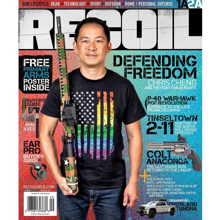 Chris Cheng talks about 2A rights in RECOIL magazine